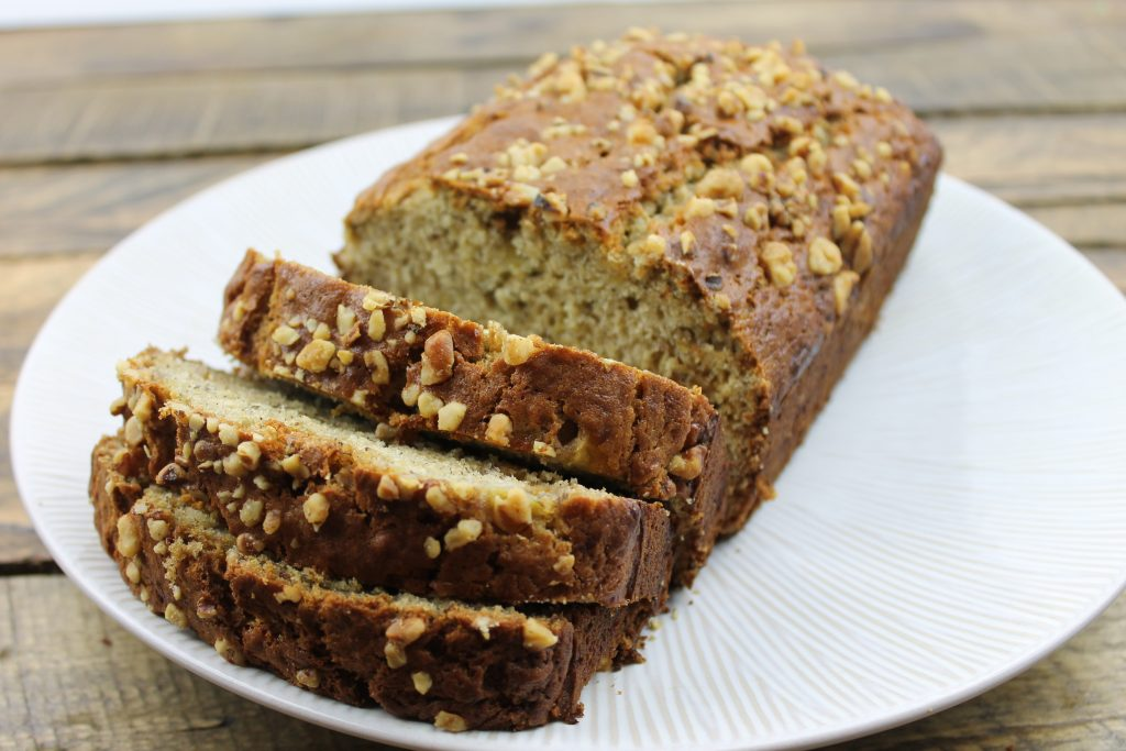 Banana Bread with Pecans and Walnuts