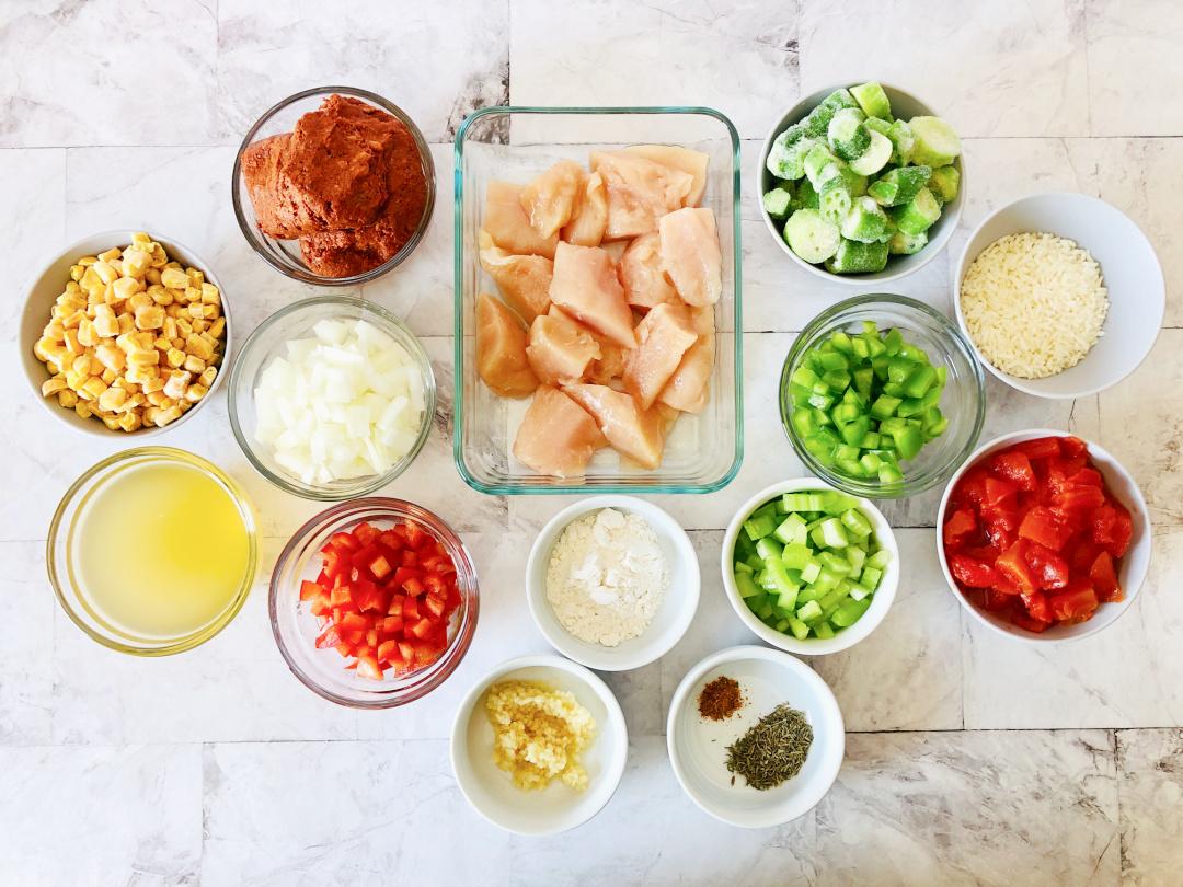 chicken and chorizo gumbo ingredients