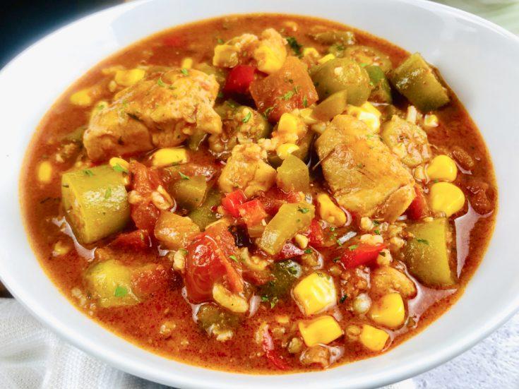 Slow Cooker Chicken Chorizo Gumbo
