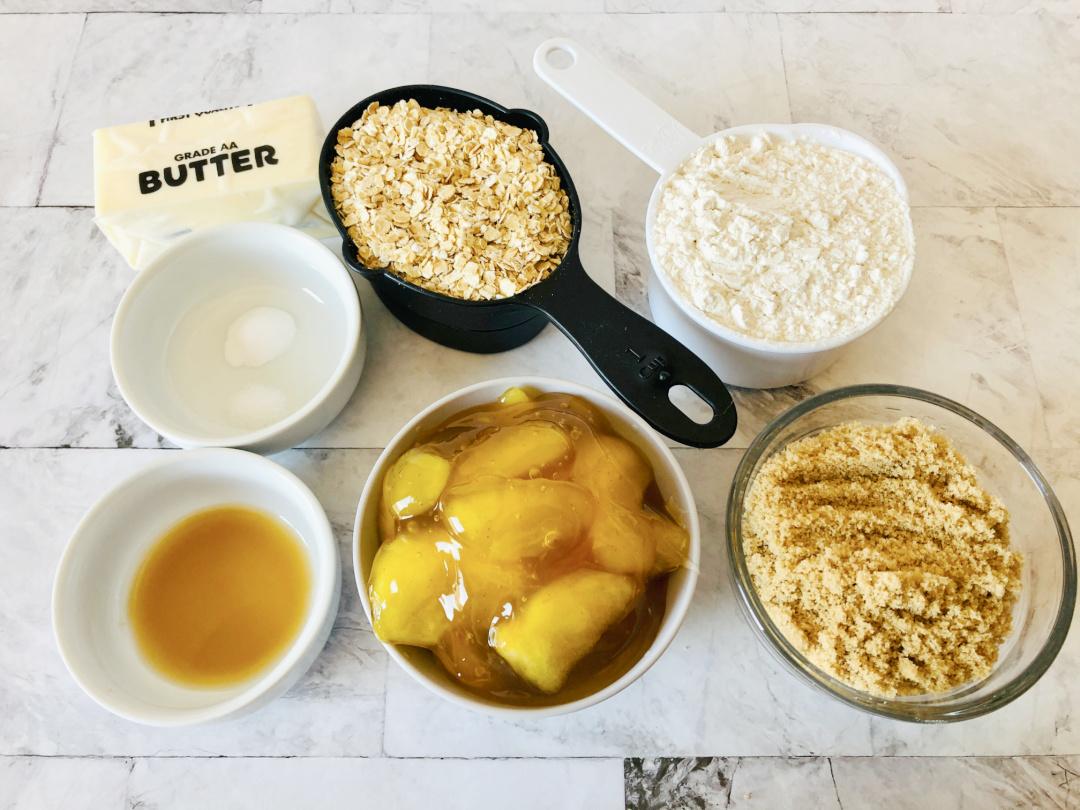 apple oatmeal bar ingredients
